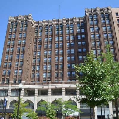 Exterior of The Albert Apartments, in downtown Detroit's Capitol Park.