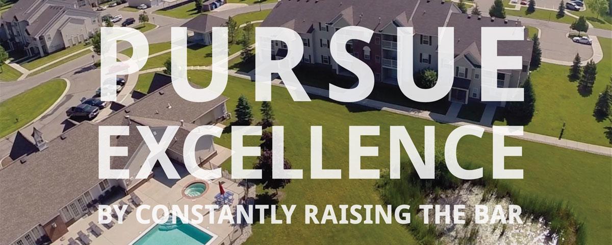 We pursue excellence